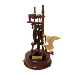 アンティークな木製からくりオルゴール 糸車 【曲:ライムライト】 EA092S