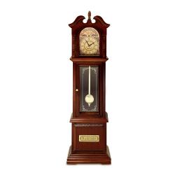 木製アンティーク古時計 【曲:おじいさんの古時計】 サンキョー YA217S