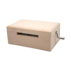 白木箱の手回しオルゴール 付属カード5枚 20弁